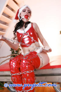 Hot and kinky Christmas girl PUPETT 8